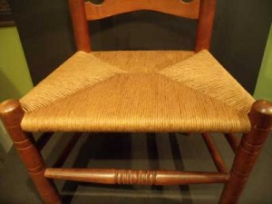 Typical Paper Rush chair AFTER restoration.