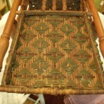 detail of old color and weave on rocker