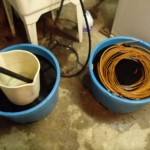 wide buckets are necessary so the reed can uncoil and absorb color evenly