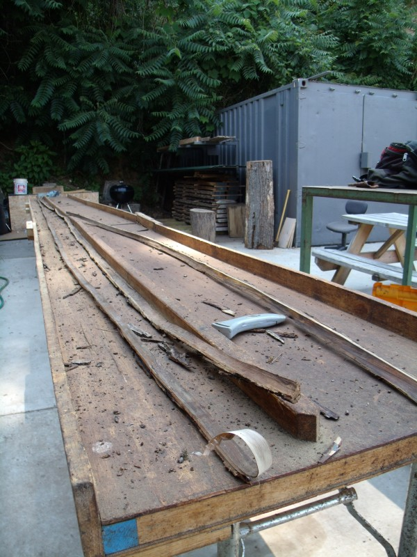 This process requires a significant amount of space. Tree-length table is obviously necessary for tree length strips.