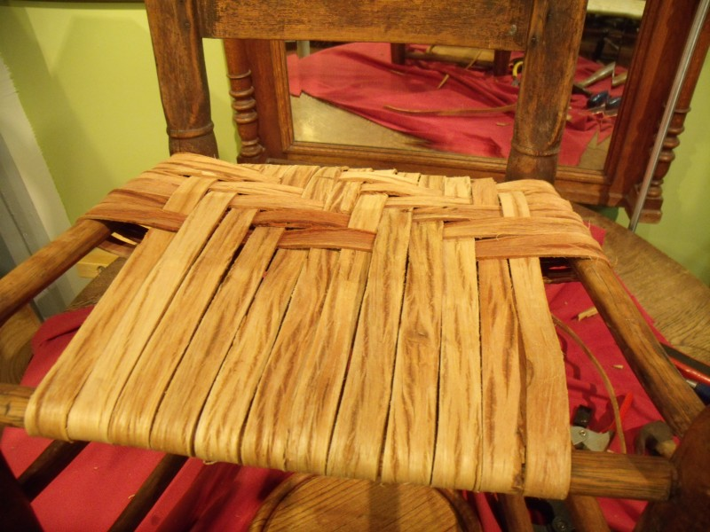 Photo Essay: Weaving Authentic Hickory Bark