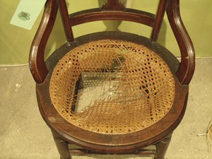 Laced Cane Round Seat Before ...