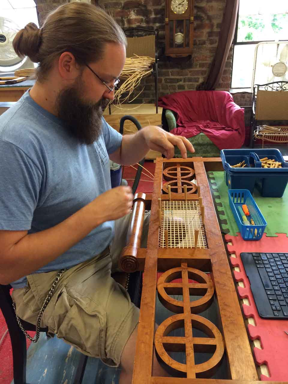 Dave-laced-caning-mirror-frame