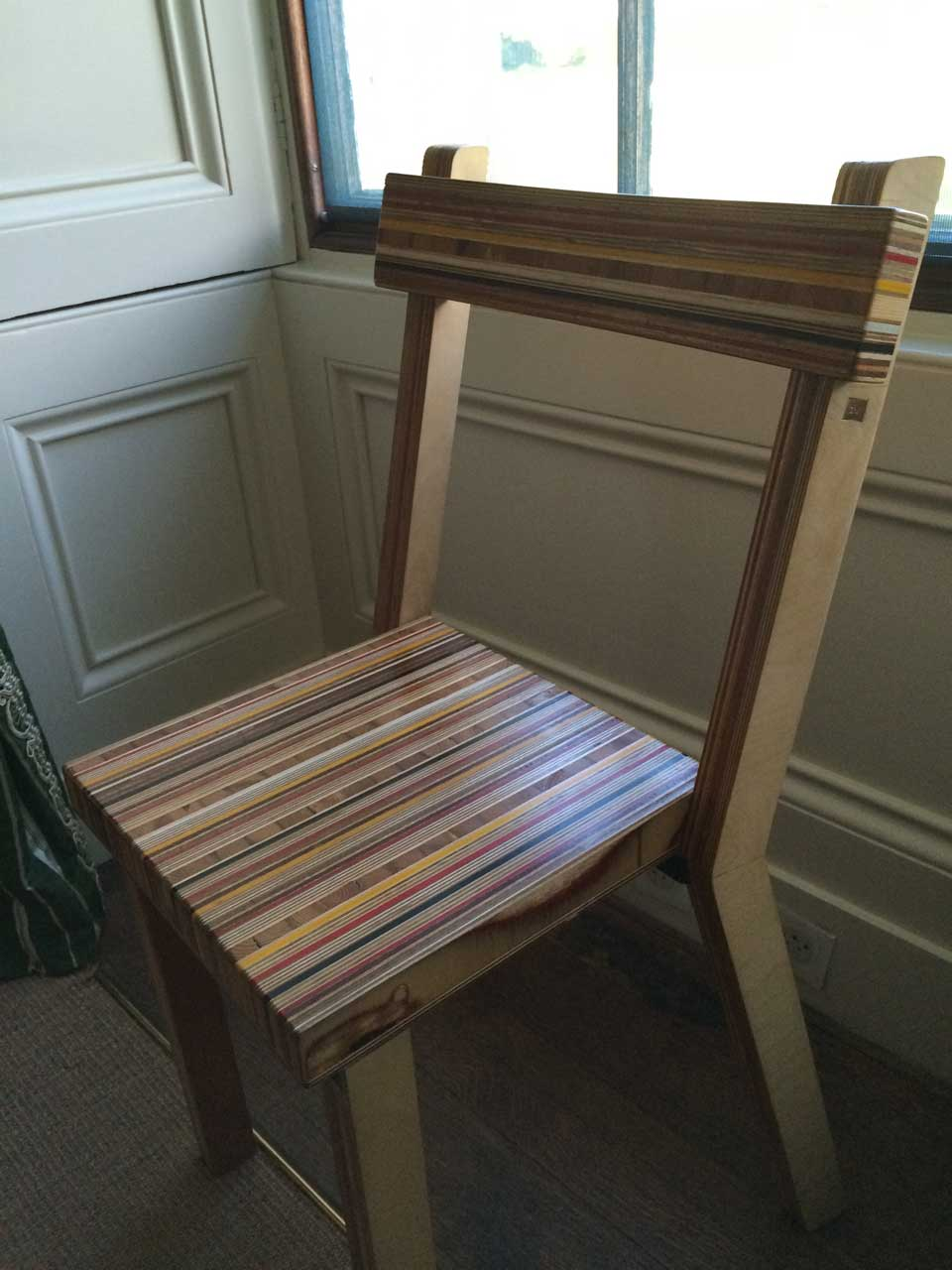 colorful pressed board chair