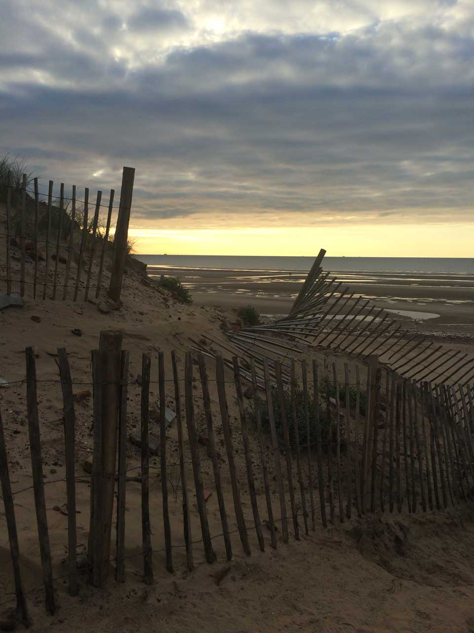 sunset at Formby