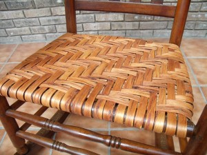 Seat with Authentic Hickory Bark from Brian Boggs Chairmakers