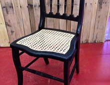 Laced Cane on Hand Painted Chair