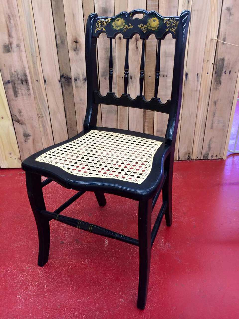 Laced-Cane-Hand-Painted-Chair