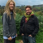 Gavin Munro, genius furniture designer and arborist (right) and Ed (minion) take me on a tour of Full Grown Farm