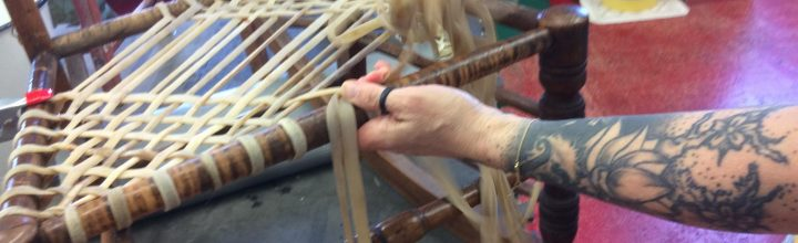 Weaving with Rawhide